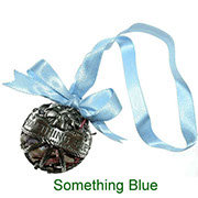 Something Blue pewter pomander with pot pourri