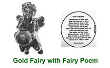 Gold Fairy pewter collectable with peep