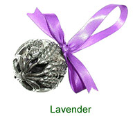 Lavender pewter pomander with pot pourri