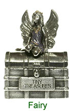 Tiny Treasures Fairy treasure chest in pewter