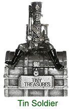 Tiny Treasures Tin Soldier treasure chest in pewter