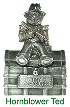 Tiny Treasures Hornblower Ted treasure chest in pewter