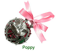 Poppy pewter pomander with pot pourri