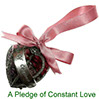 Pledge of Constant Love pewter pomander with pot pourri