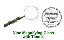 Vine motif Magnifying Glass with peep