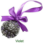 Violet pewter pomander with pot pourri